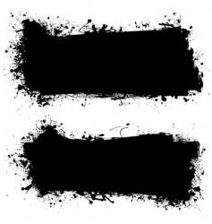 Ink grunge banner vector