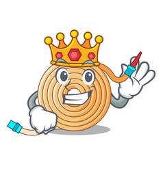 King the water hose mascot vector