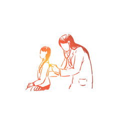 Little girl health checkup vector