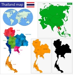 Map of Kingdom of Thailand vector