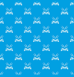 Meat house pattern seamless blue vector