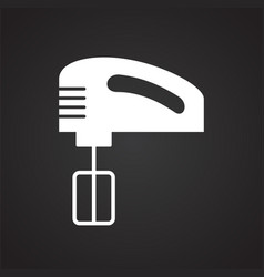 mixer icon on black background for graphic and web vector image