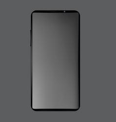 Modern frameless smartphone on a gray background vector