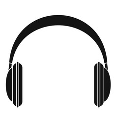modern headphones icon simple style vector image