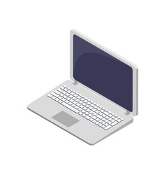 modern laptop electronic device symbol vector image