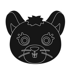 mouse muzzle icon in black style isolated on white vector image