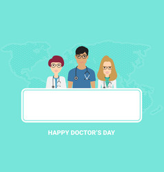 national doctors day stock vector image