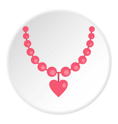 necklace icon circle vector image