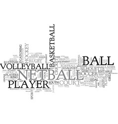 Netball word cloud concept vector