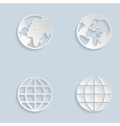 Paper Globe Earth Icons vector image
