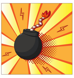 Pop art bomb vector