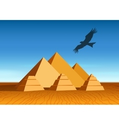 Pyramid landscape vector image