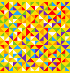rainbow mosaic tiles abstract geometric vector image
