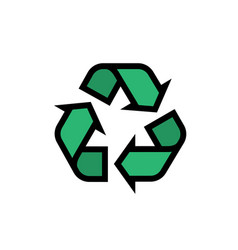 recycle icon editable stroke vector image
