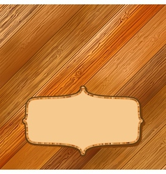 Retro wooden frame with space EPS8 vector image