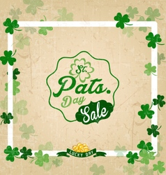 Saint Patricks Day Typographical Vintage vector