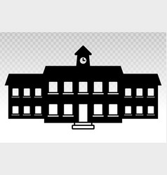School building flat icon for educational apps vector