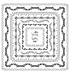 Set of decorative elements Square frames vector image