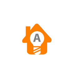 smart home initial a vector image