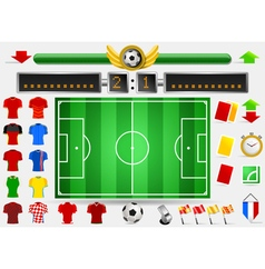 Soccer Field and Football Apparel vector image