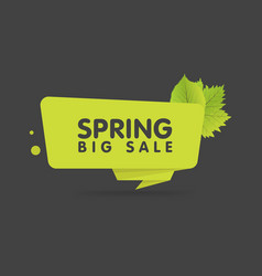 spring sale banner origami style paper design vector image