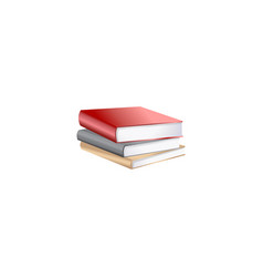 stack books isolated on white vector image
