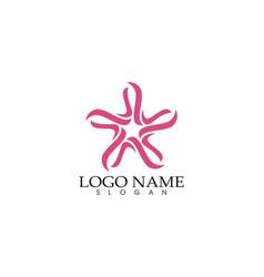 Star falcon logo template icon vector