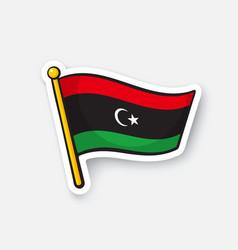 Sticker national flag libya vector