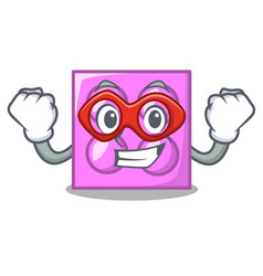 super hero toy brick character cartoon vector image