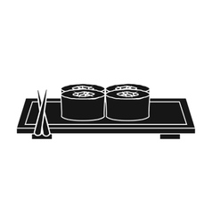 Sushi icon in black style isolated on white vector