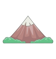The sacred mountain of Fuji icon cartoon style vector image