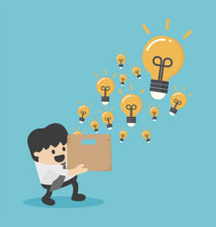 think outside the box business for innovation and vector image