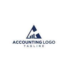 triangle accounting diagram logo design vector image