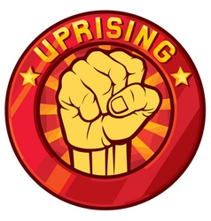 uprising symbol vector image