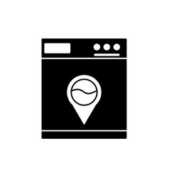Washing machine black vector