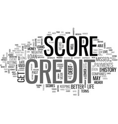 what does your credit score mean text word cloud vector image