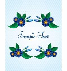 invitation postcard vector image