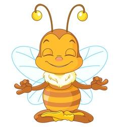 Meditating Bee vector image vector image