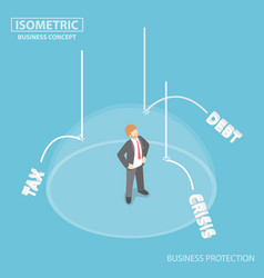the invisible shield protect businessman from vector image vector image