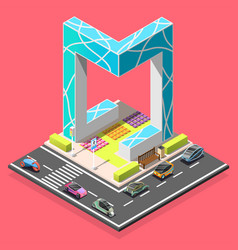 city constructor isometric element vector image vector image