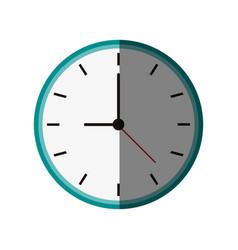 clock flat shadow vector image