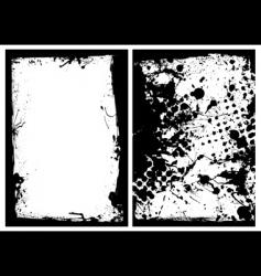 ink grunge black splat border vector image