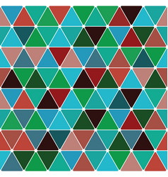 mardi gras triangle pattern vector image vector image
