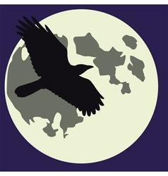 moon black raven vector image