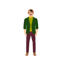 musician man isolated icon vector image vector image