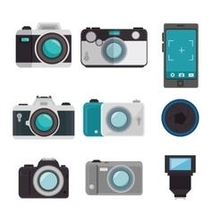 set photographic equipment design vector image