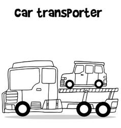 Car transporter vector