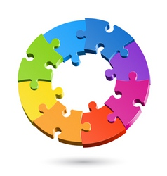 jigsaw puzzle wheel vector image