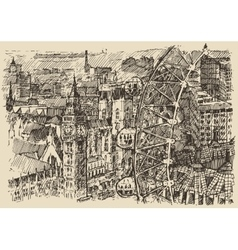 London England vintage hand drawn sketch vector image vector image