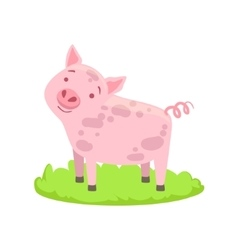 Pig Farm Animal Cartoon Farm Related Element On vector image